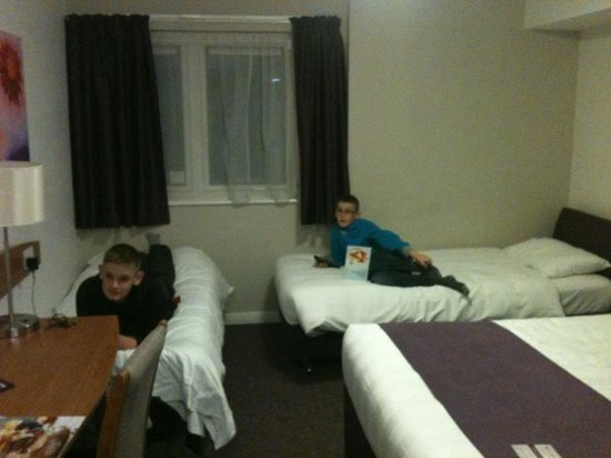 Premier Inn Inverness Centre (River Ness) Hotel: Didn't take the boys long to settle in!