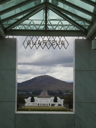 Australian Parliament House: View of the old parliament house