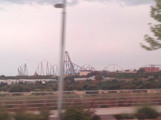 PortAventura : View from the main road
