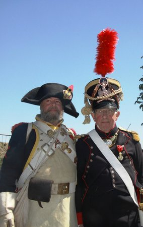"""Waterloo Battlefield: Two passing """"French"""" soldiers out for the day"""