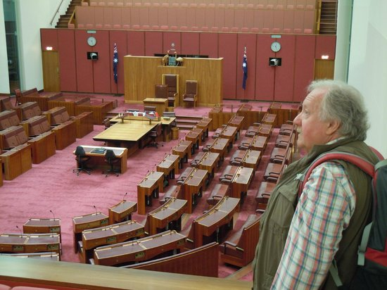 Australian Parliament House: One of the chambers