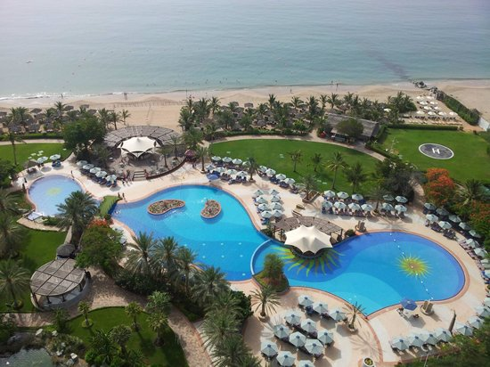 Le Meridien Al Aqah Beach Resort : View from the balcony