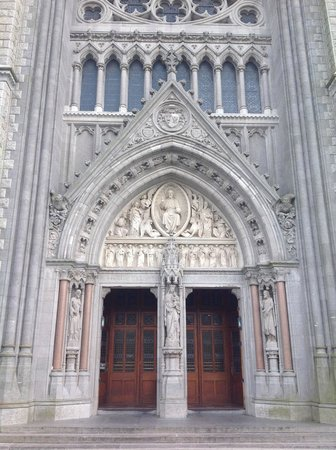 Cobh Cathedral: The imposing West doors