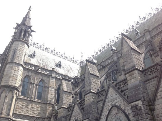 Cobh Cathedral: Exterior detail from the Northwest showing the transept turret