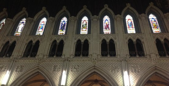 Cobh Cathedral: The nave triforium and clerestory