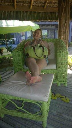 Casa Da Ruth Pousada: Descanso na espreguiçadeira!