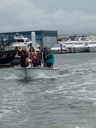 Poole Boat Hire: Team 2, straggling behind...