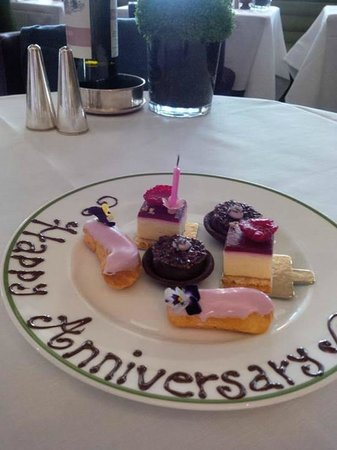 HIX Mayfair: Happy Anniversary Plate of goodies - thank you