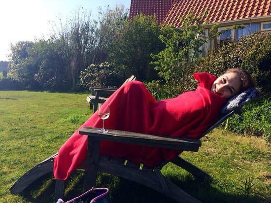 Hotel Tatenhove Texel: The garden, they provide blankets