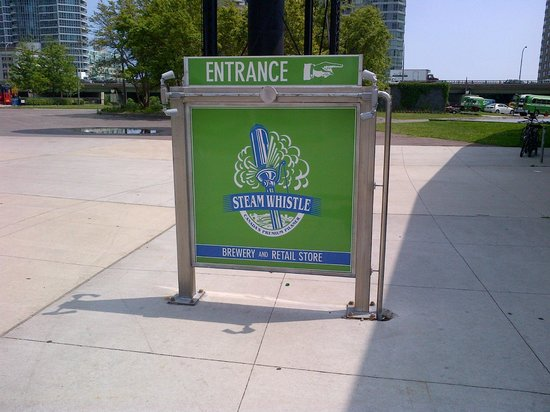 Steam Whistle Brewery: Sign up front