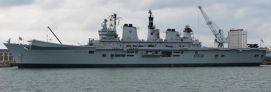 Portsmouth Historic Dockyard: HMS Illustrious, Portsmouth, Tue. 27th May 2014