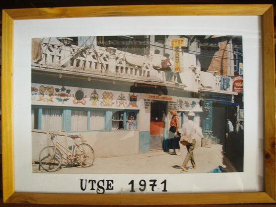 Hotel Utse: Utse 1971. Photo hangs in lobby.