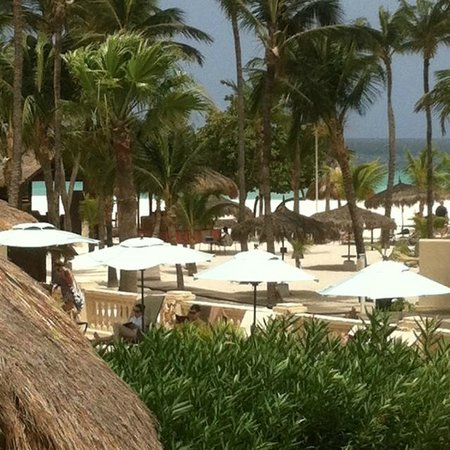 Manchebo Beach Resort & Spa: View from our room. Pool is below and beach in distance