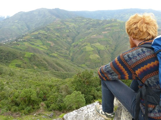 Chachapoyas Backpackers Hostal: View from Kuelap