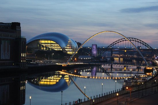 The Quayside : Sunset over The Tyne