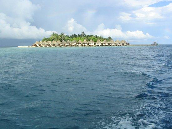 VOI Dhiggiri Resort: L'isola vista dal dhoni