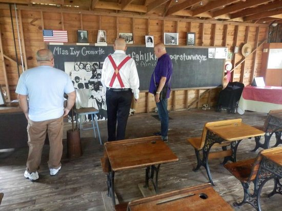 Fort Lauderdale Historical Society: With the guide at the School House