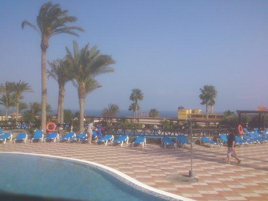 Occidental Jandia Playa: Uitzicht vanaf het ligbed