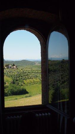 MsnRelais Rocca di Castagnoli: uitzicht vanuit kamer Fornaciaio