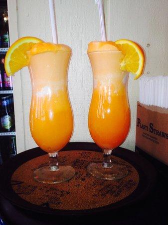 The Pioneer Patio Restaurant : Orange Creme vodka drink!
