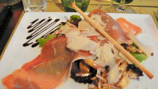 Le Bayside: Salade de Petits Artichauts Violets et Jambon Cru