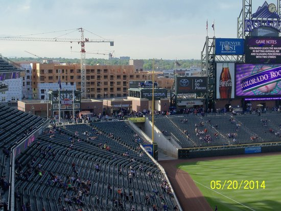 Coors Field: View from our seats