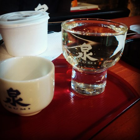 Distillery Historic District: sake #52 and non dairy ice-cream at Ontario Spring Water Sake