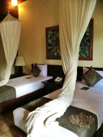 Ananda Cottages: Beds with mosquito nets