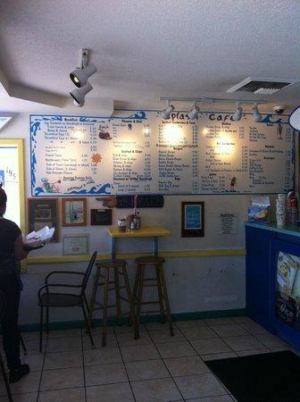 Splash Cafe: Menu board