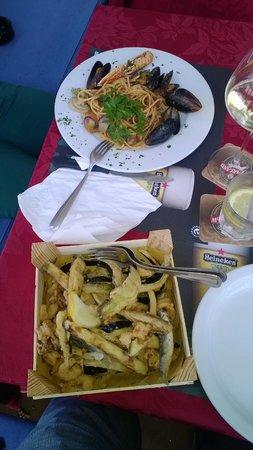 Lord Nelson Pub : Spaghetti allo scoglio e frittura di pesce e verdure