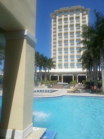 Hyatt Regency Coconut Point Resort & Spa: Looking at back of hotel
