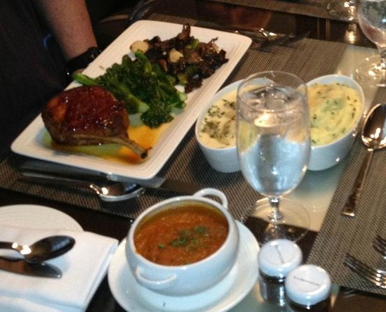 Vdara Hotel & Spa : Amazing pork chop and gnocchi from room service