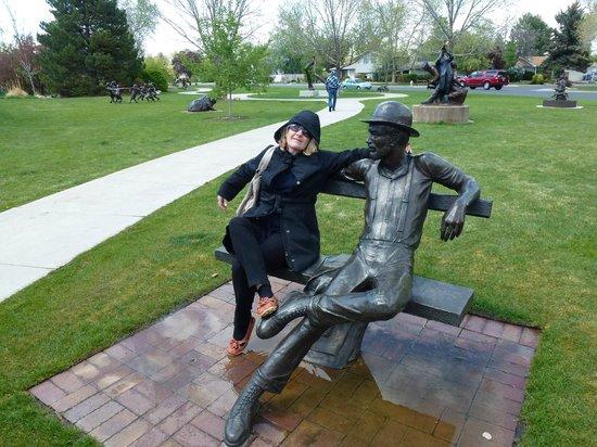 along the pathway - Picture of Benson Park Sculpture Garden ...