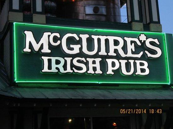 McGuire's Irish Pub.......Gotta go!!  :)