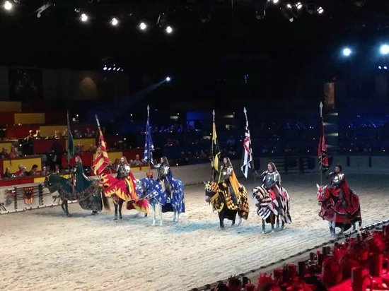 Medieval Times: Before the king and the princess.