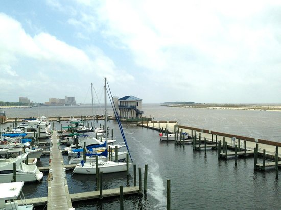 McElroy's Harbor House Seafood Restaurant: View of marina from balcony.