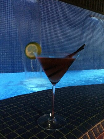 Axel Hotel Barcelona & Urban Spa: Rooftop Martini's at the hot tub/pool