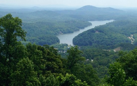 Chimney Rock State Park: View of Lake Lure