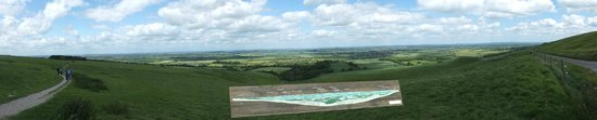 Uffington, UK: View of panorama from just below the White Horse.