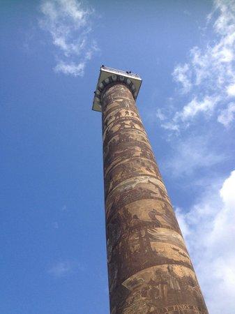 Astoria Column: Down below looking up
