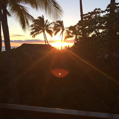 Koa Kea Hotel & Resort: View from our room at sunset