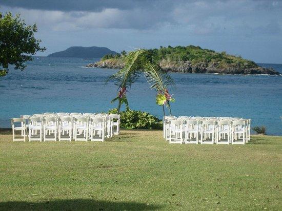 Caneel Bay Resort: wedding set up, turtle bay point