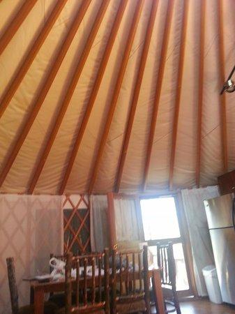 Shenandoah Crossing: Ceiling of yurt