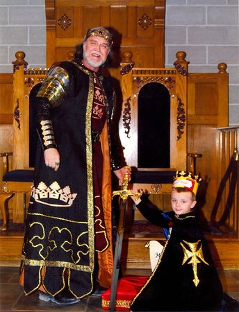 Medieval Times Dinner and Tournament: Sir Bryden is knighted