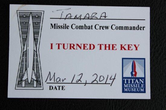 Titan Missile Museum: Tamara