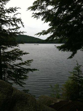 La Pourvoirie du Lac Berval: vue du chalet