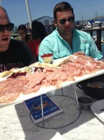 Salito's Crab House & Prime Rib: Salami and Cheese Plate of Legend