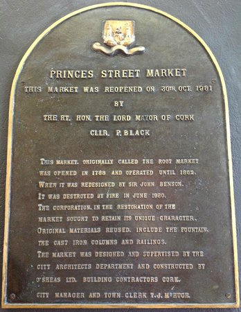 Old English Market/City Market : Wall plaque of the market