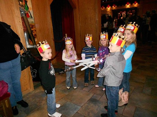 Medieval Times Dinner and Tournament: Bryden made some new friends while we were there.