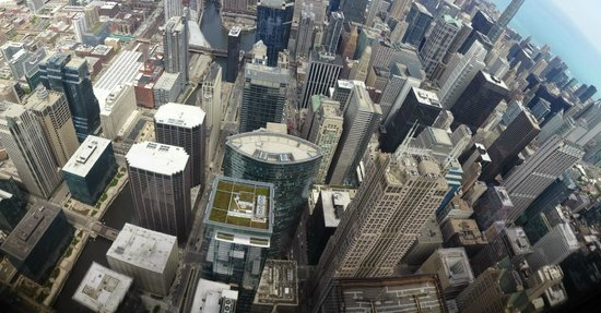 Skydeck Chicago - Willis Tower : View from sky deck